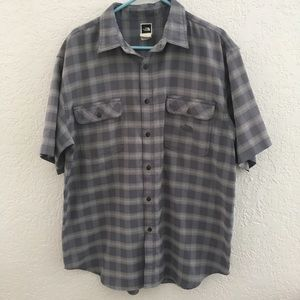 The North Face plaid button down